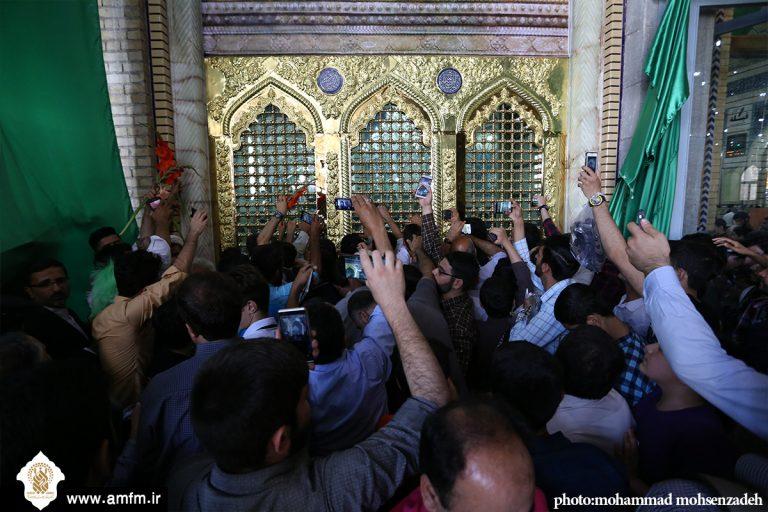 تصاویر آیین رونمایی از پنجره فولاد حرم حضرت معصومه(س)