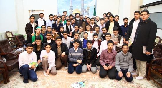 دیدار جمعی از طلاب جوان مشهد با تولیت آستان مقدس قم