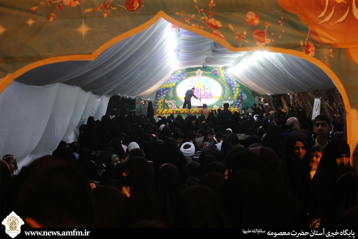 جشن میلاد کوثر در صحن جامع فاطمی در شب میلاد حضرت زهرا(س)