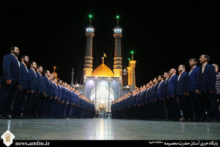 اجرای گروه تواشیح محمد رسول الله(ص)در حرم کریمه اهل بیت(س)