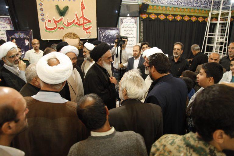 دیدار عمومی آیت الله سعیدی با مردم منطقه باجک قم+تصاویر
