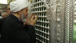 تولیت حرم سامراء به حرم بانوی کرامت مشرف شد +تصاویر
