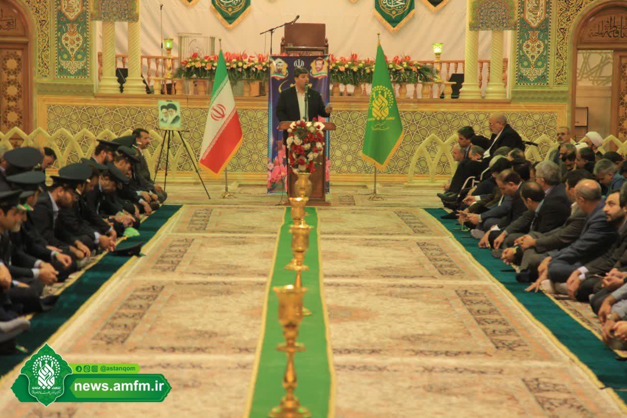برگزاری آیین خطبهخوانی خادمان حرم مطهر در آستانه هفته دولت