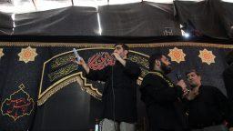 برگزاری مراسم عزاداری در موکب آستان حضرت معصومه(س)