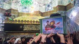 تشییع پیکر شهید مدافع حرم در حرم حضرت معصومه(س)