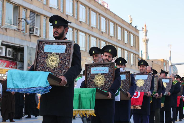 استقبال از خادمان آستان های مقدس ایران در حرم حضرت معصومه(س)