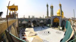 نگاهی به نقش و نگار صحن امام هادی(ع) در روز میلاد ایشان +تصاویر