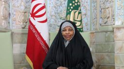 Press TV anchor, Marzieh Hashemi in The Holy Shrine of Fatima Masuma(s.a)