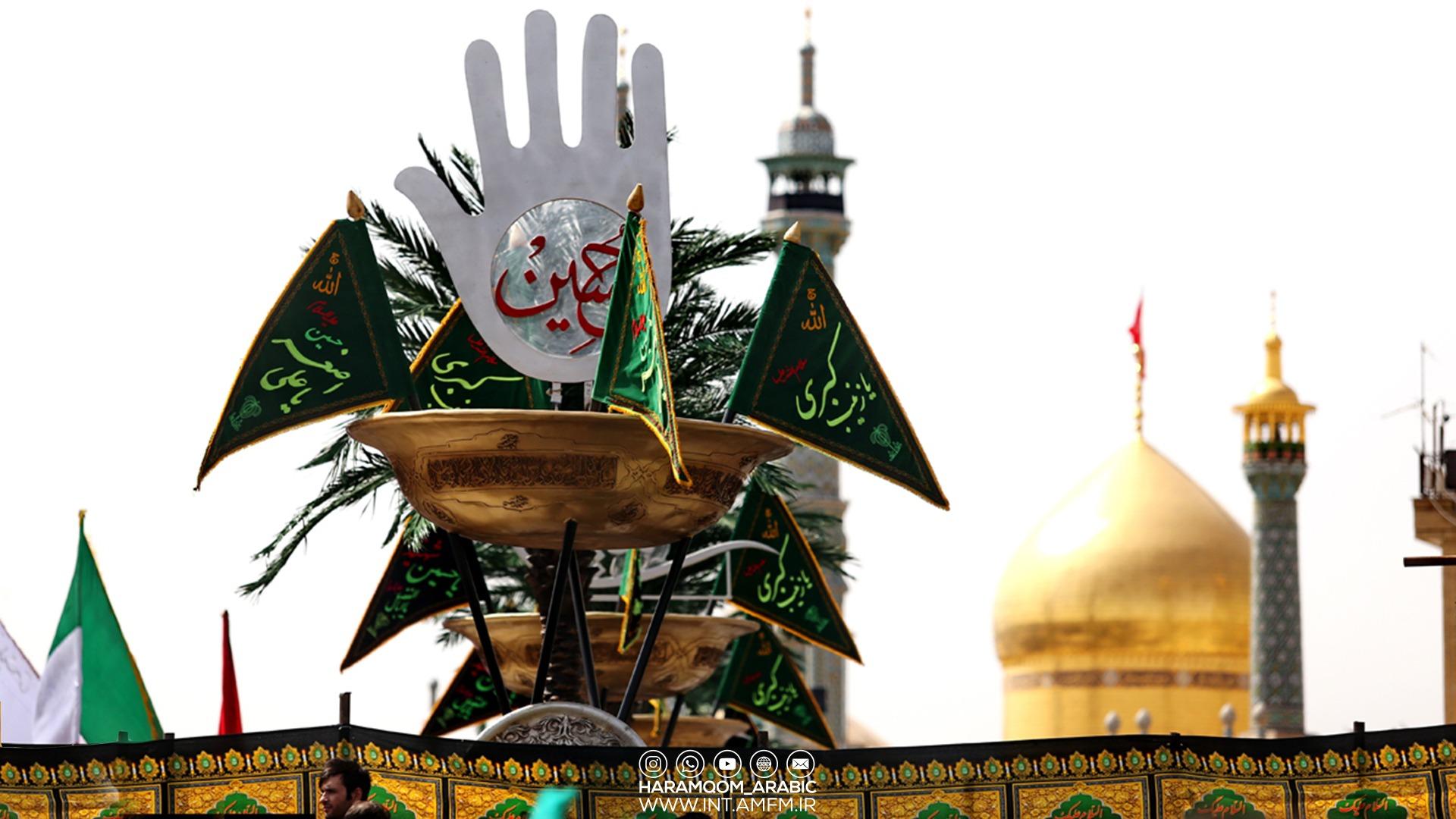 إقامة مجالس العزاء الحسينية في العتبة المعصومية المقدسة