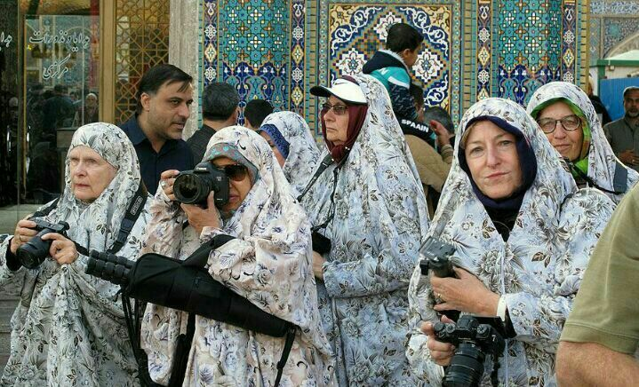 Tourists in the Holy shrine