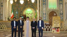 The Greek ambassador in the Holy Shrine of Lady Fatima Masoumah