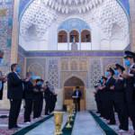 قراءة يومية زیارة السيدة فاطمة سلام الله علیها في صحن الإمام الهادي عليه السلام.